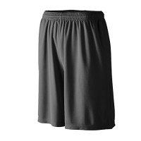Augusta Longer Length Wicking shorts w/ pockets Black