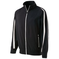 Holloway Men's Determination Jacket Black with White Stripes