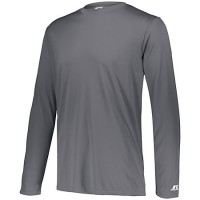 Russell Athletic Dri-Power Core Performance Long Sleeve Tee Grey