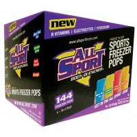All Sport Freezer Pops (3 Oz.)-Case-144 Pops-Variety pack of 4 flavors