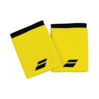 Babolat Logo Jumbo Wristbands - Blazing Yellow/Black - 2018