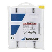 Babolat Pro Tacky Tennis Overgrip 12 Pack - White
