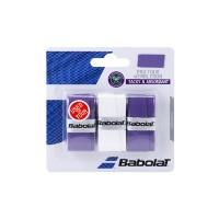 Babolat Pro Tour Wimbledon Overgrip - Purple-White-Purple - 2017