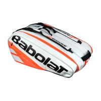 Babolat Pure 12 pack Bag - White-Fluo Red - 2018