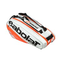 Babolat Pure 6 pack Bag - White-Fluo Red - 2018
