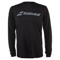 Babolat Men's Logo Long Sleeve T-Shirt Black Size X-Large