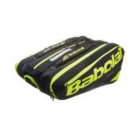 Babolat Pure 12 Pack Tennis Bag - Black/Yellow - 2017