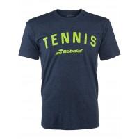 Babolat Tennis Logo Tee Navy Size XLarge