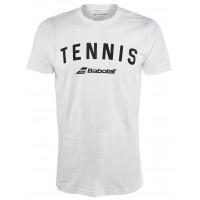Babolat Tennis Logo Tee White Size XLarge