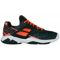 Babolat Propulse Fury All Court Men's Tennis Shoe Black/ Fluo Strike