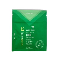 "Premium ""Sleep Time"" CBD Gummies with Melatonin 4-count Pouch (THC Free)"