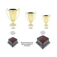 Die Cast Metal Zinc Cups With Choice Of  Rosewood Base