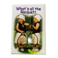"""Tennis Magnet """"Racquet"""""""