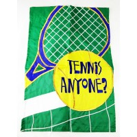 Garden Flag Tennis Anyone (18inx12in)