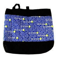 Quilted Pocket Tote-Tennis Terms