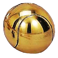 Brass Plate Tennis Ball Pewterware - Without Base