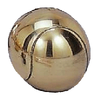 Gold Plated Tennis Ball Pewterware - Without Base