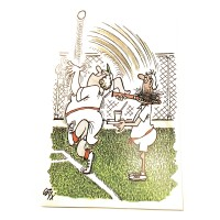 English Humor Cards-Lady w/Racquet
