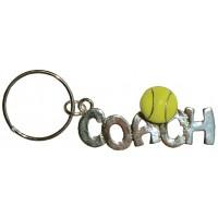 Tennis Coach Keyring