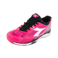 Diadora Women's S Pro ME Tennis Shoes Bright Rose & Black
