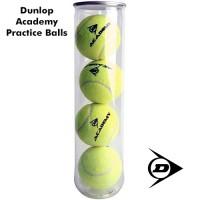 Dunlop Academy Practice Tennis Balls 4 ball can