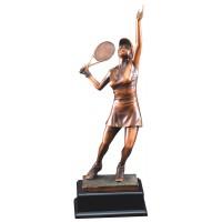 "Tennis Gallery Resin Sculpture Female 19"""