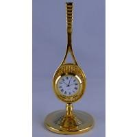 Brass Racquet Desk Clock