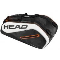 Head Tour Team 9R Supercombi Tennis Bag - Black / White