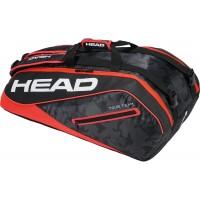 Head Tour Team 9R Supercombi Tennis Bag - Black and Red