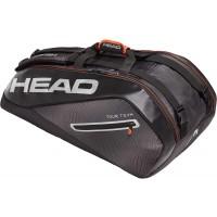 Head Tour Team 9R Supercombi Tennis Bag - Black and Silver