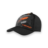 Head Light Function Tennis Cap - Black
