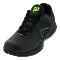 Head Men's Revolt Team 3.0 Black Green Tennis Shoe