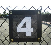 Tennis Court Numbers Mesh