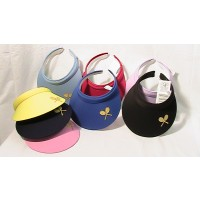 Cushees Applique Clip Visor w/Crossed Racquets