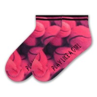 "K Bell ""Play Like A Girl"" - Quarter Socks"