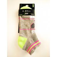 "K Bell ""Kiss My Ace"" Womens Quarter Sock"