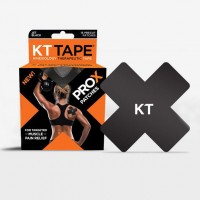 KT Tape Pro Patch Black - 15 Pre-Cut X Patches