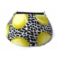 Foam Tennis Visor Net & Ball Design - Black