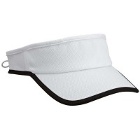 Moisture Wicking Cool Visor White with Black Trim