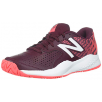 New Balance 696v3 Oxblood with Vivid Coral Women's Tennis Shoe