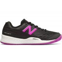 New Balance Women's Tennis Shoe 896v2 Black with Voltage Violet