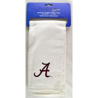 University of Alabama  Embroidered Towel White