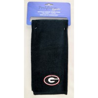 University of Georgia Black Embroidered Towel White