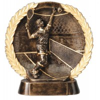 Tennis Resin Sculpture Male 6 1/2""