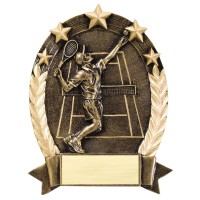 "Five Star Tennis Resin Sculpture Male 6 1/2"""