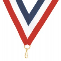 Ribbon For Tennis Medal-Red/White/Blu