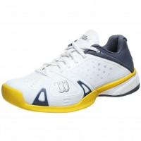 Wilson Rush Pro Mens Shoes White Grey Yellow