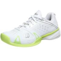 Wilson Rush Pro Womens Shoes White Cyber Green