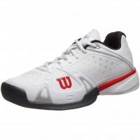 Wilson Rush Pro Mens Shoes Pool White Silver