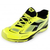 Diadora Men's S Pro ME Tennis Shoes Fluo and Black